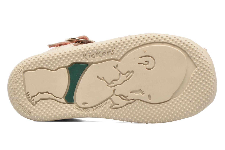 Sandales et nu-pieds Kickers Bodelere Beige vue haut