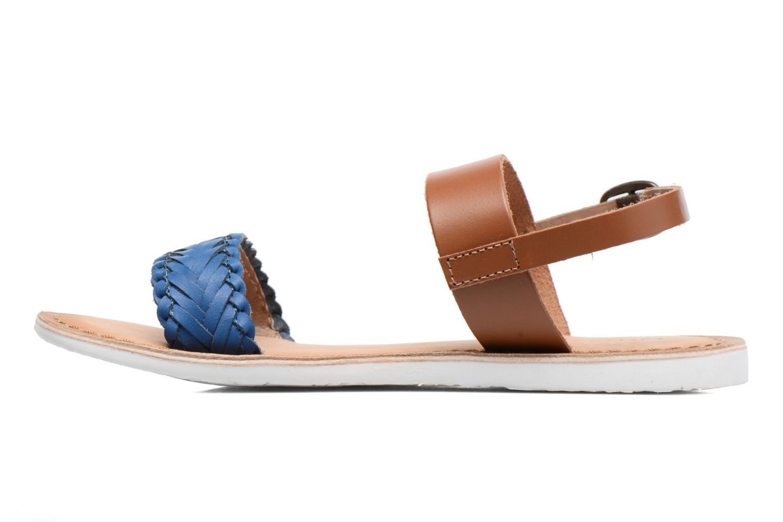 Sandales et nu-pieds Kickers Sporia Bleu vue face