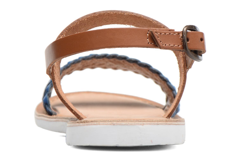Sandales et nu-pieds Kickers Sporia Bleu vue droite