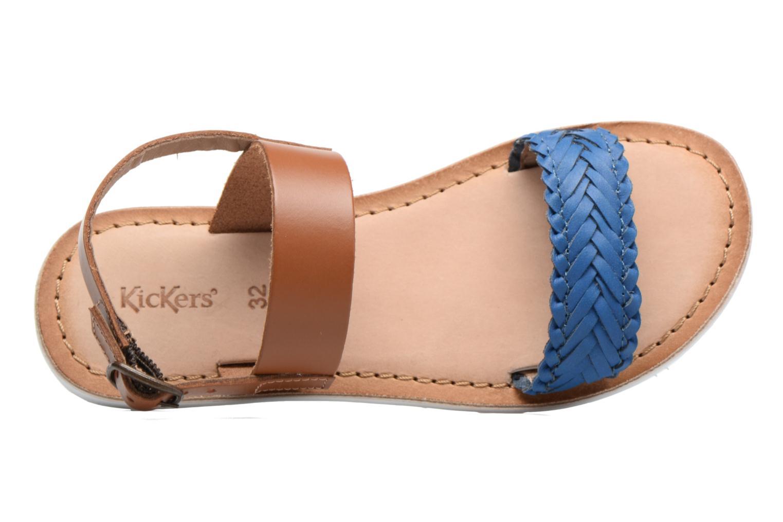 Sandalias Kickers Sporia Azul vista lateral izquierda