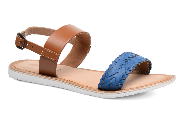 Sandales et nu-pieds Kickers Sporia Bleu vue détail/paire