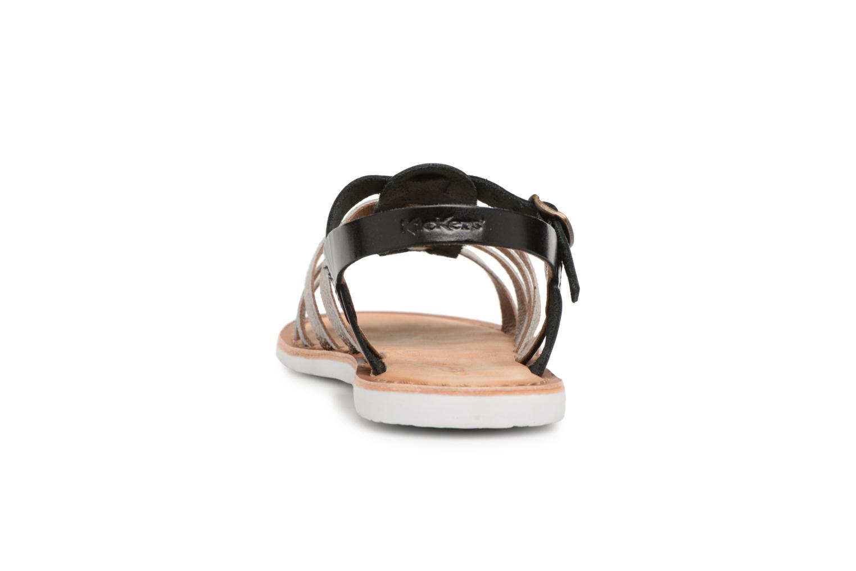 Sandales et nu-pieds Kickers Sparta Noir vue droite