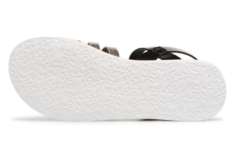 Sandales et nu-pieds Kickers Sparta Noir vue haut