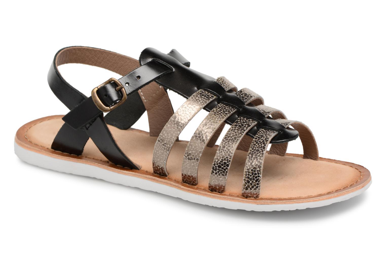 Sandaler Kickers Sparta Sort detaljeret billede af skoene