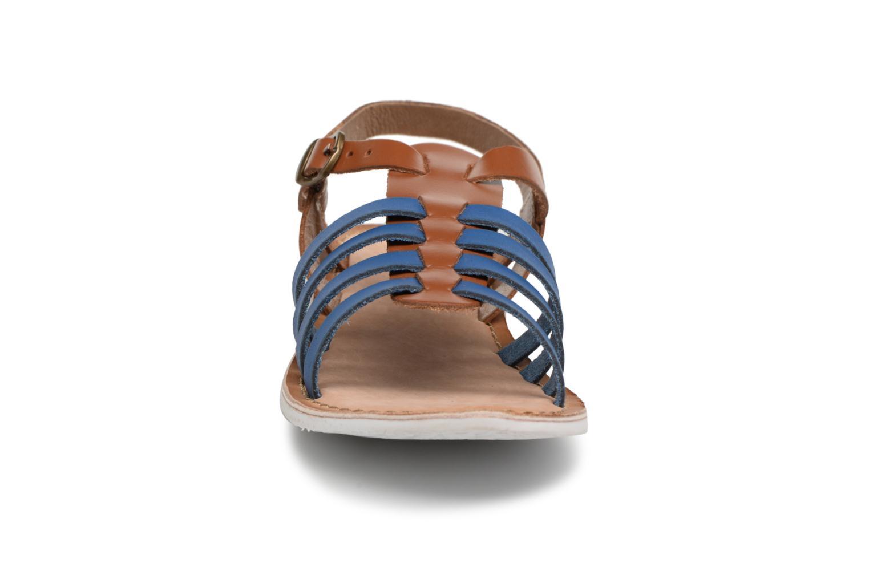 Sandalen Kickers Sparta blau schuhe getragen