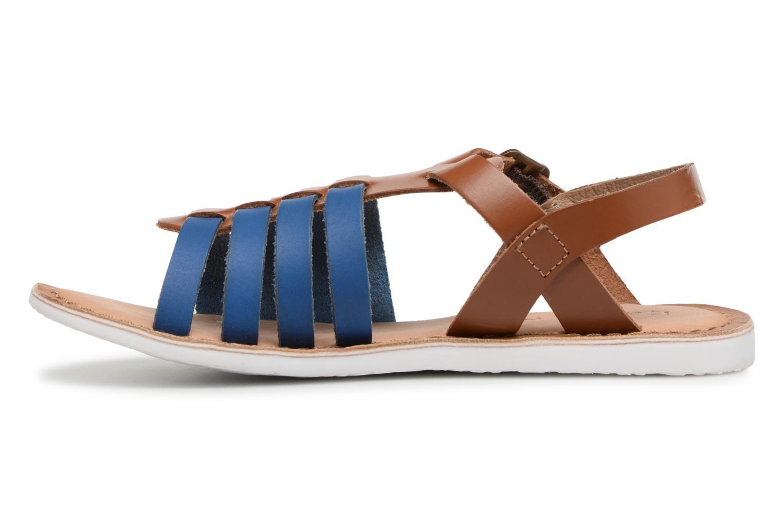 Sandalen Kickers Sparta blau ansicht von vorne