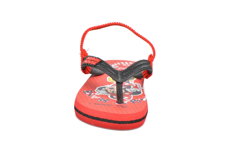 Zehensandalen Minnie Pipa rot schuhe getragen