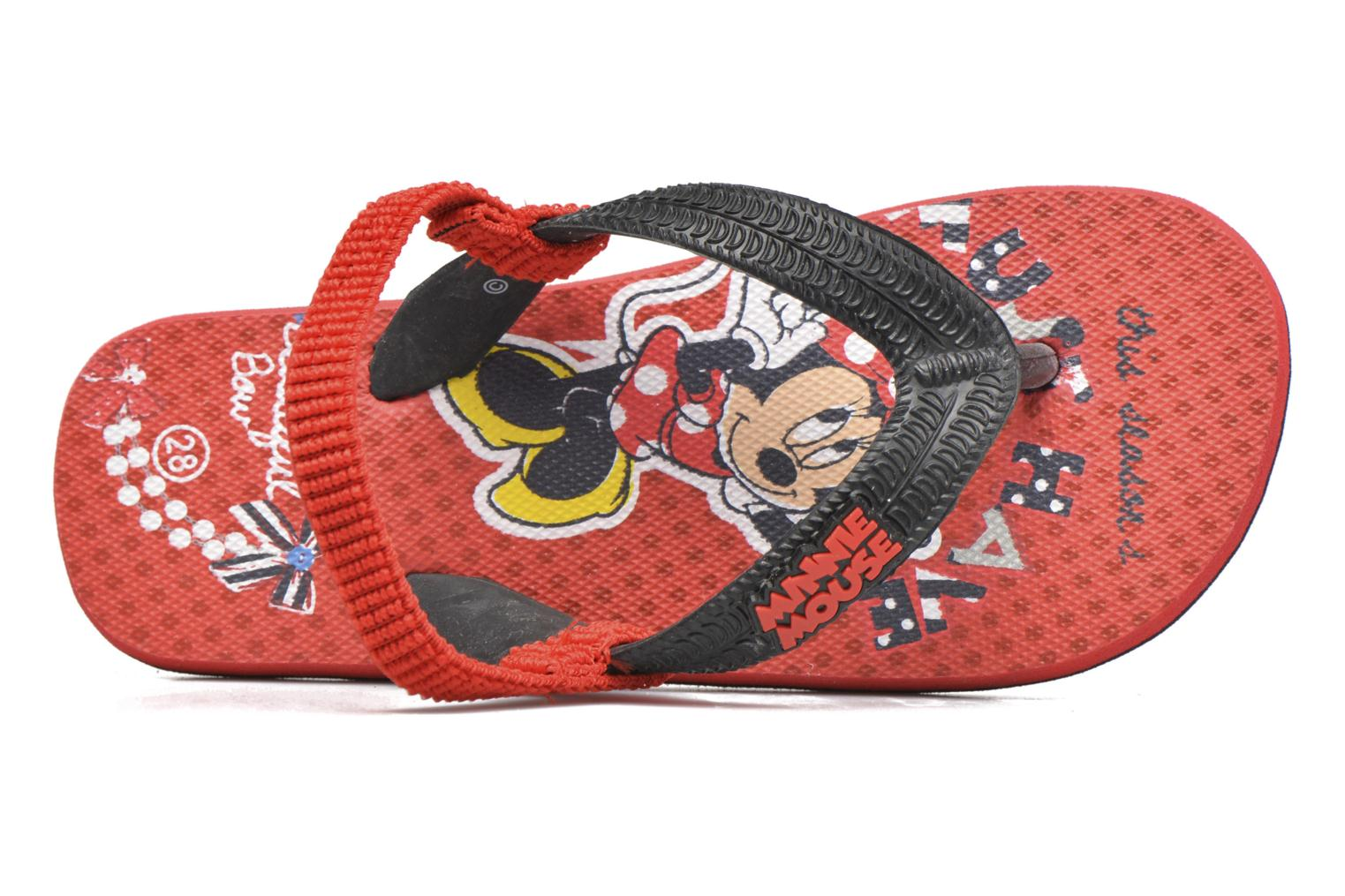 Flip flops Minnie Pipa Red view from the left