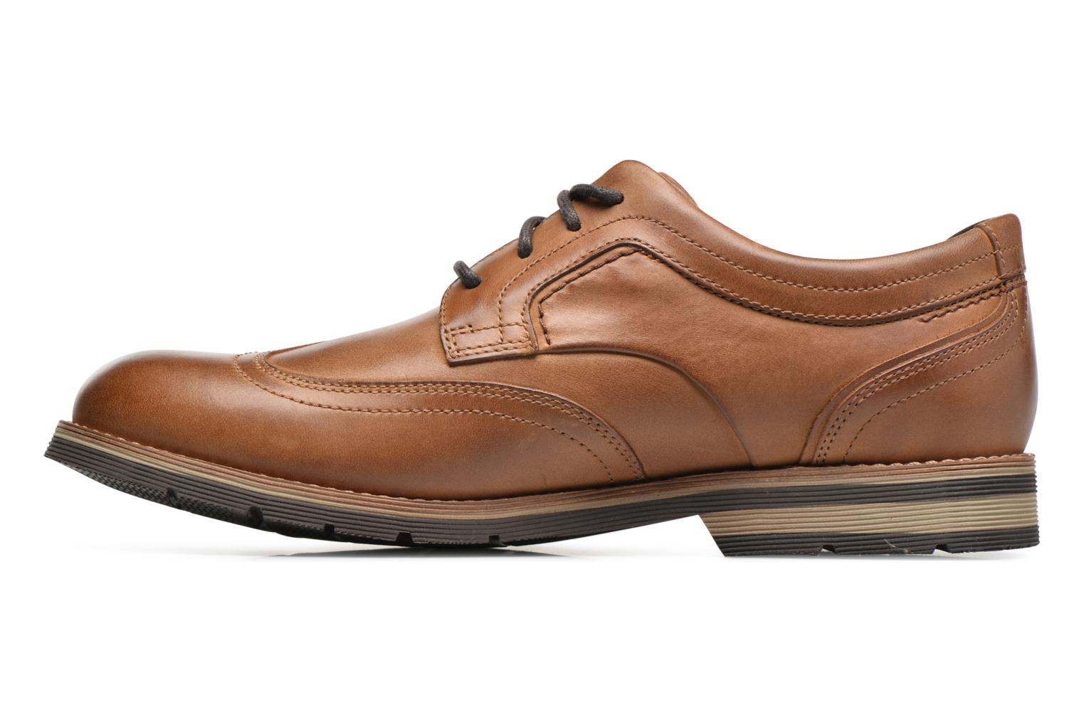 Chaussures à lacets Rockport Statford Wing Tip Marron vue face