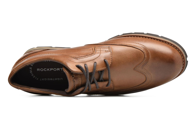 Chaussures à lacets Rockport Statford Wing Tip Marron vue gauche