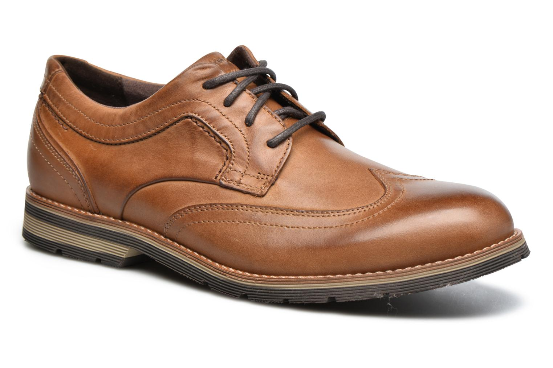 Chaussures à lacets Rockport Statford Wing Tip Marron vue détail/paire