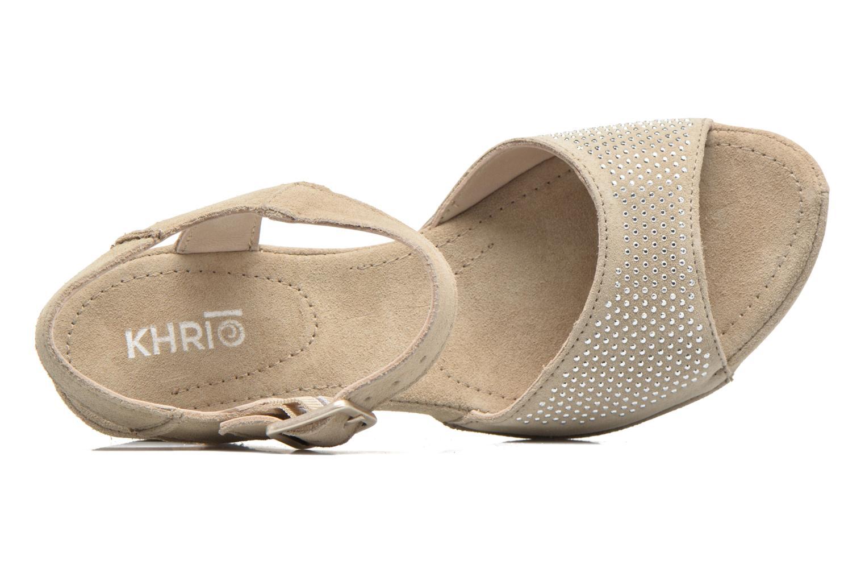 Sandales et nu-pieds Khrio Maddie Beige vue gauche