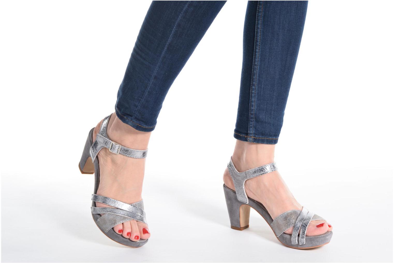 Sandales et nu-pieds Khrio Mia Argent vue bas / vue portée sac