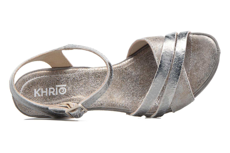 Sandales et nu-pieds Khrio Mia Argent vue gauche