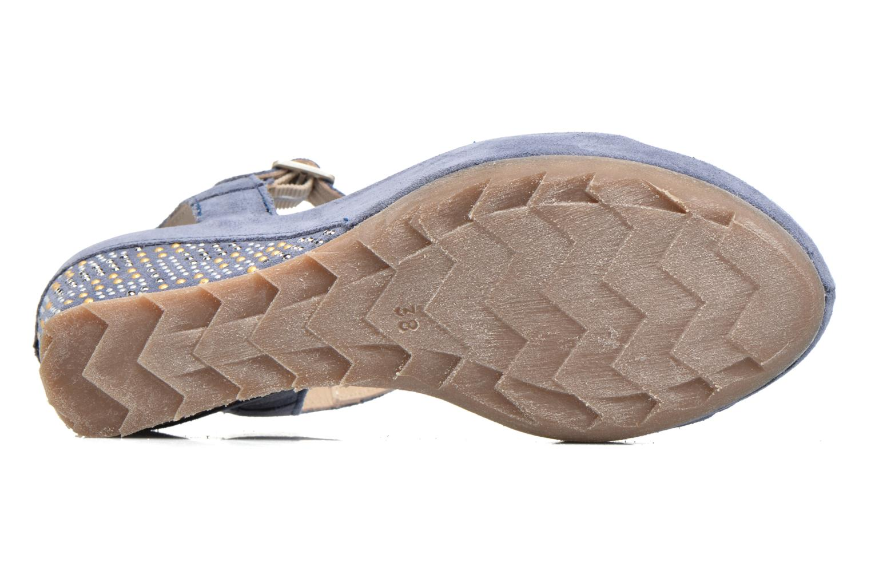 Sandales et nu-pieds Khrio Missy Bleu vue haut