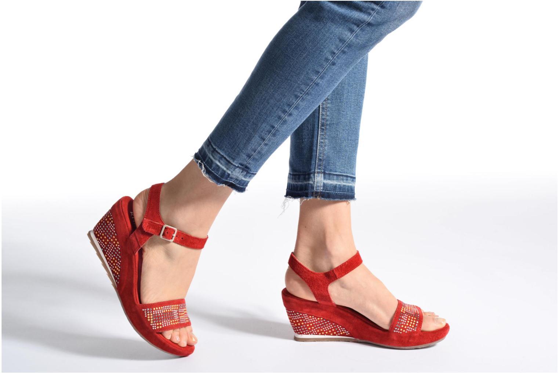 Sandales et nu-pieds Khrio Missy Rouge vue bas / vue portée sac