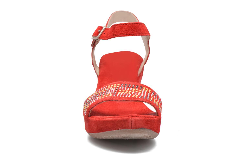 Sandales et nu-pieds Khrio Missy Rouge vue portées chaussures