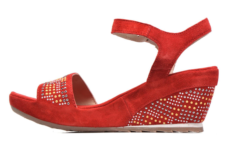 Sandales et nu-pieds Khrio Missy Rouge vue face