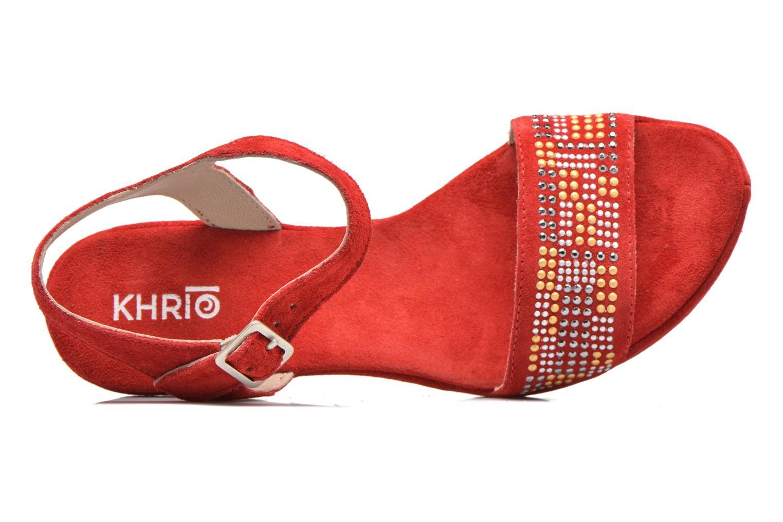 Sandales et nu-pieds Khrio Missy Rouge vue gauche