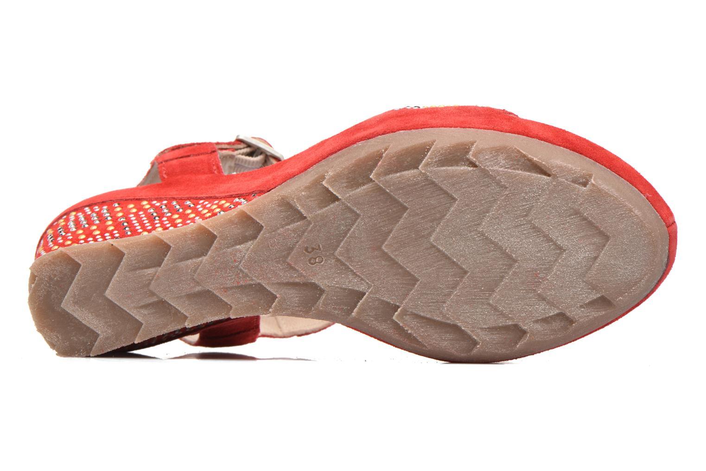 Sandales et nu-pieds Khrio Missy Rouge vue haut