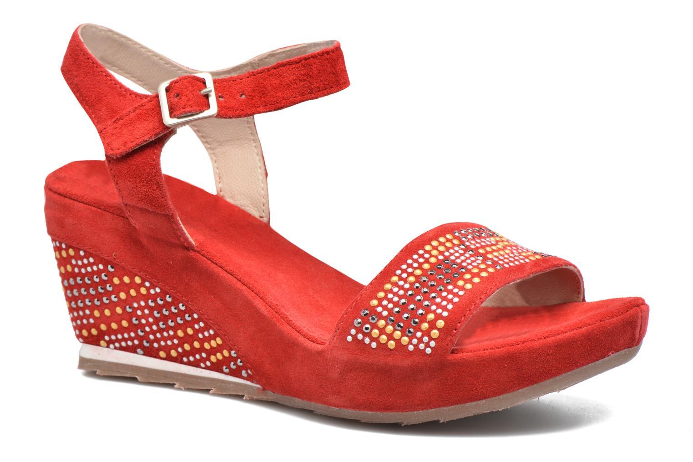 Sandales et nu-pieds Khrio Missy Rouge vue détail/paire