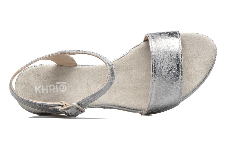 Sandali e scarpe aperte Khrio Tahia Argento immagine sinistra
