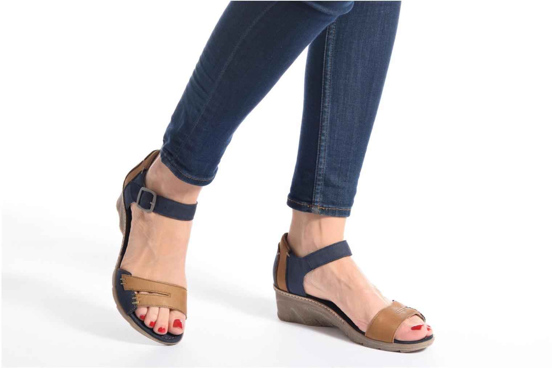 Sandales et nu-pieds Khrio Candella Bleu vue bas / vue portée sac