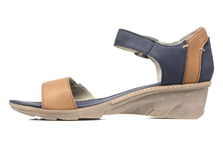 Sandales et nu-pieds Khrio Candella Bleu vue face