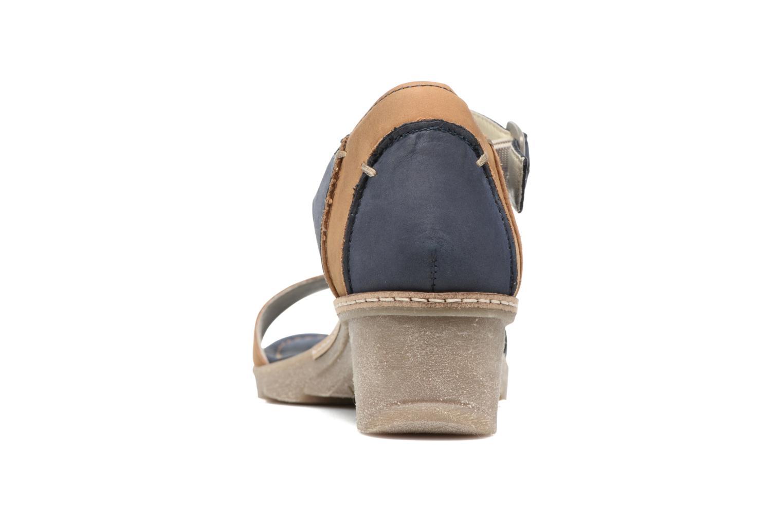 Sandales et nu-pieds Khrio Candella Bleu vue droite