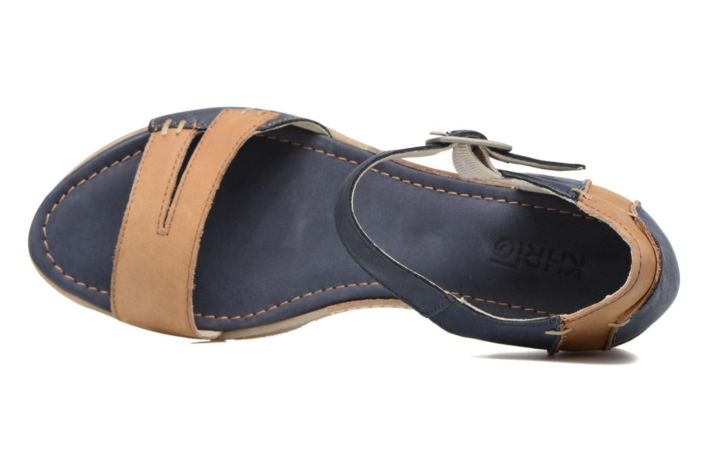 Sandales et nu-pieds Khrio Candella Bleu vue gauche