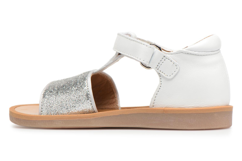 Sandales et nu-pieds Pom d Api Poppy Tao Easy Blanc vue face