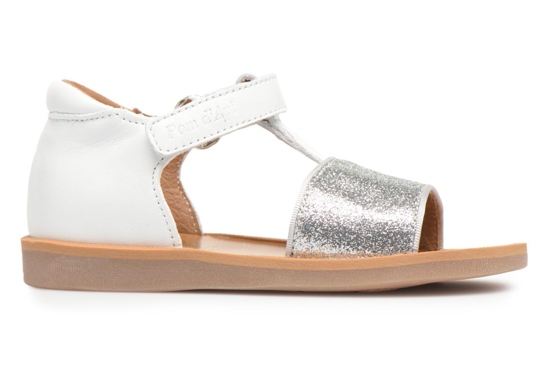 Sandales et nu-pieds Pom d Api Poppy Tao Easy Blanc vue derrière