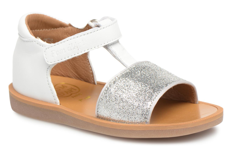 Sandales et nu-pieds Pom d Api Poppy Tao Easy Blanc vue détail/paire
