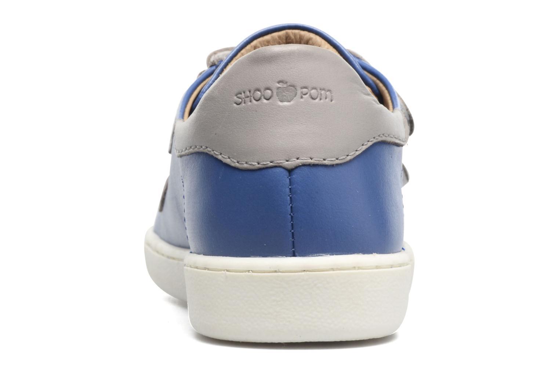 Baskets Shoo Pom Duck Scratch Bleu vue droite