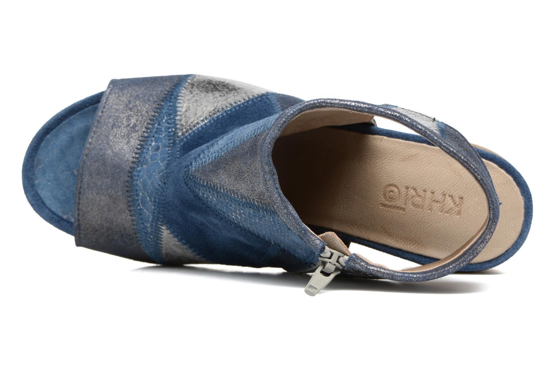 Sandales et nu-pieds Khrio Aurea Bleu vue gauche