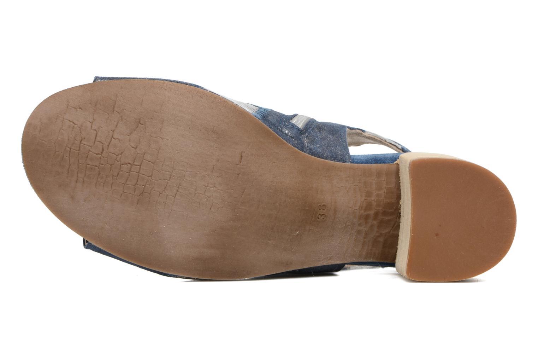 Sandales et nu-pieds Khrio Aurea Bleu vue haut