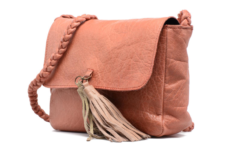 Sacs à main Pieces Frabo Leather Crossover bag Rose vue portées chaussures