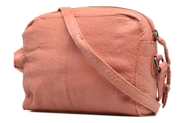 Sacs à main Pieces Jace Leather Crossover bag Rose vue droite