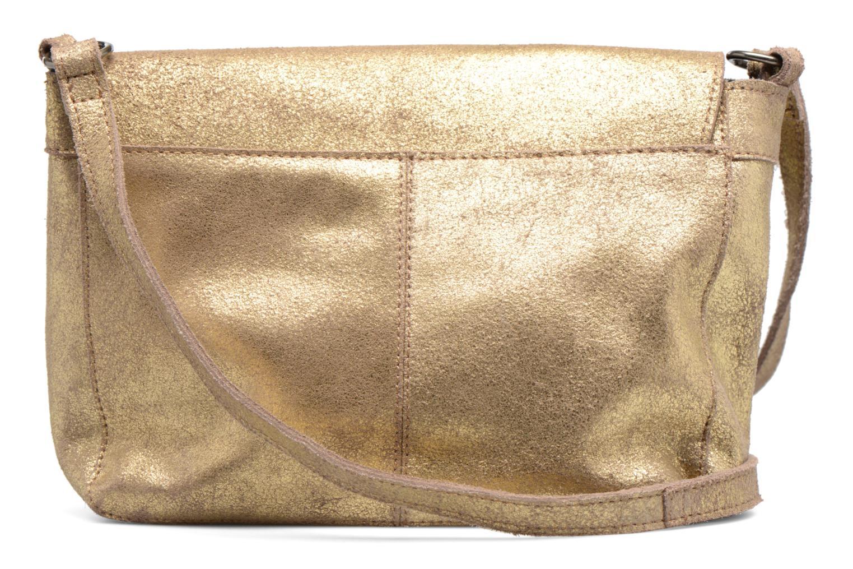 Bolsos de mano Pieces Musta Leather Crossover bag Oro y bronce vista de frente
