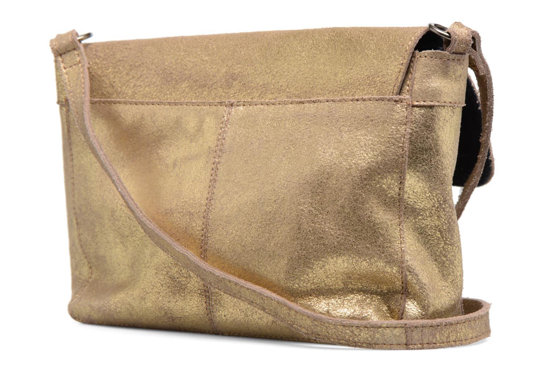 Bolsos de mano Pieces Musta Leather Crossover bag Oro y bronce vista lateral derecha