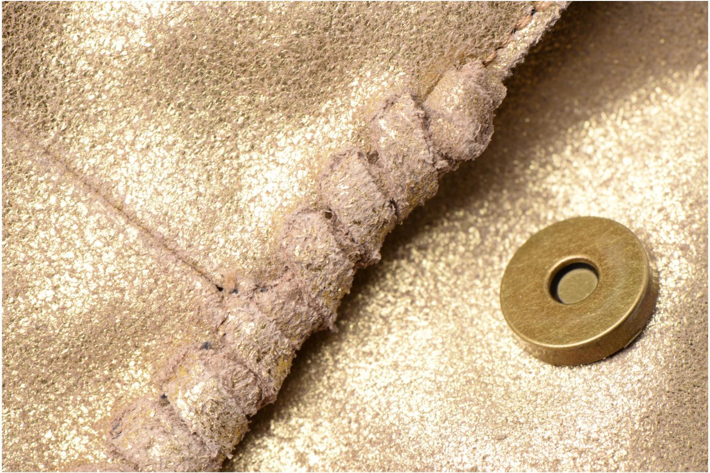 Bolsos de mano Pieces Musta Leather Crossover bag Oro y bronce vista lateral izquierda