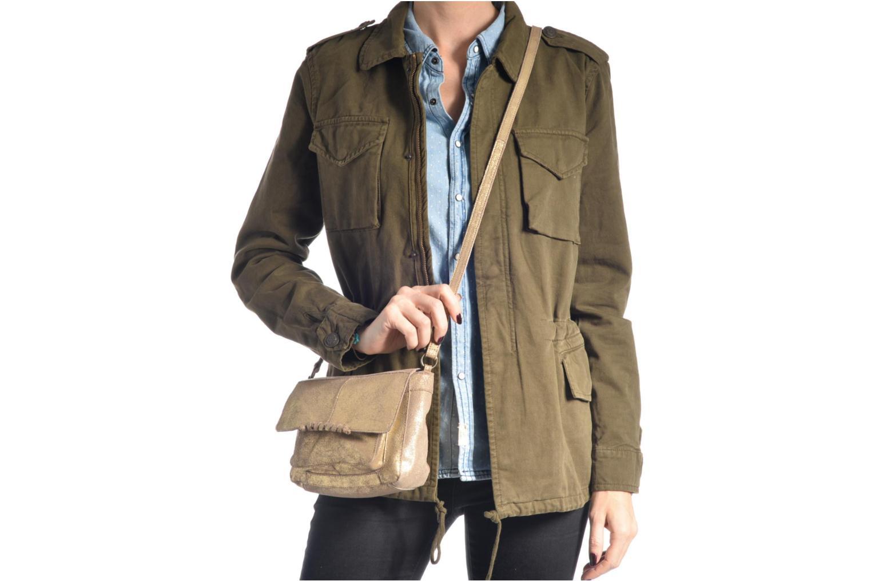 Sacs à main Pieces Musta Leather Crossover bag Or et bronze vue haut