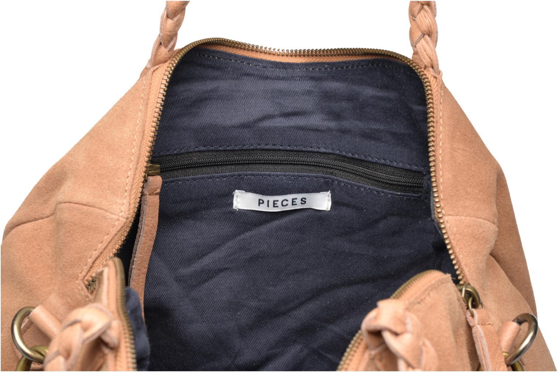 Sacs à main Pieces Cameo Leather bag Beige vue derrière