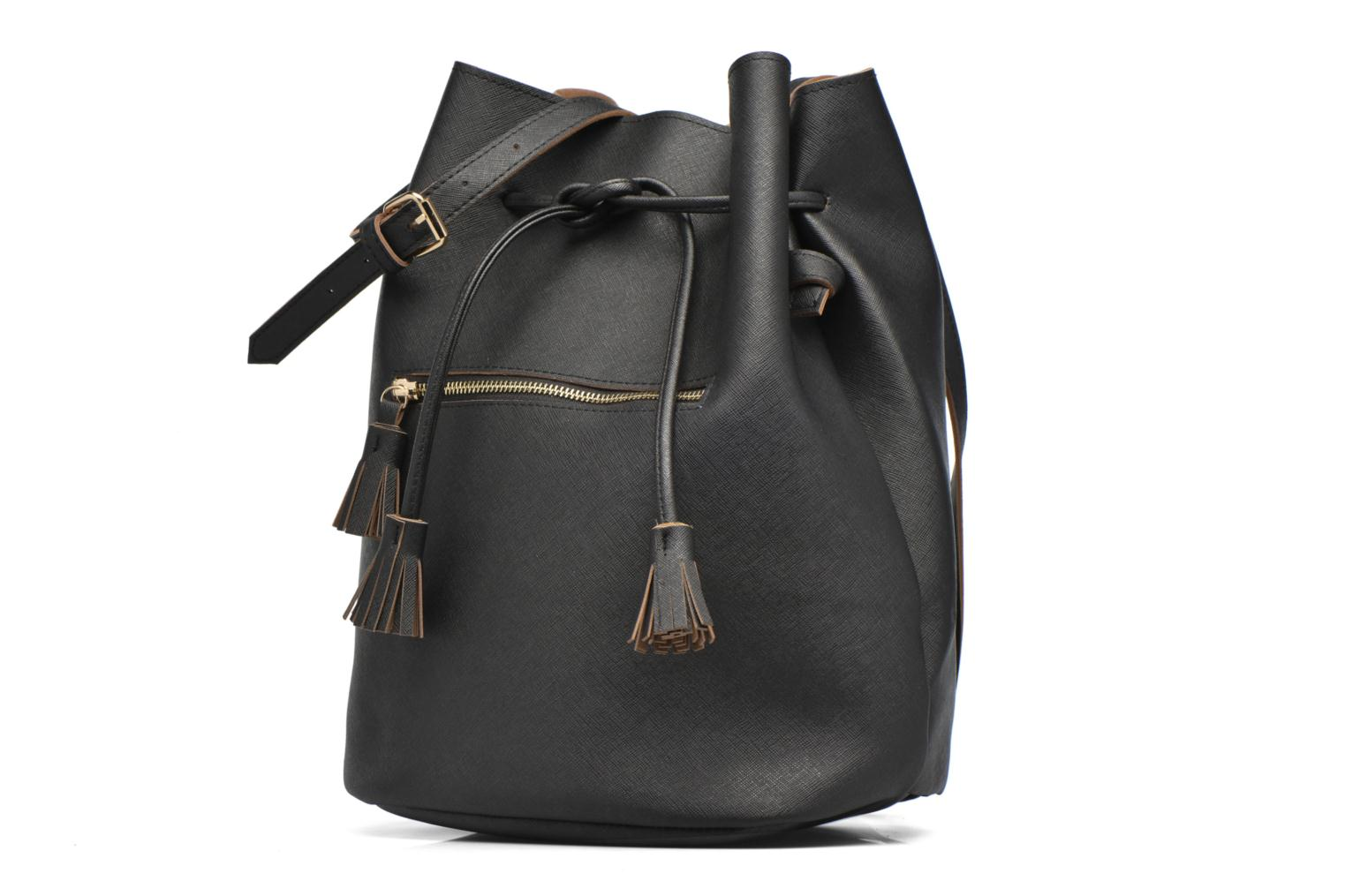 Bolsos de mano Pieces Lellis Tighten bag Negro vista del modelo