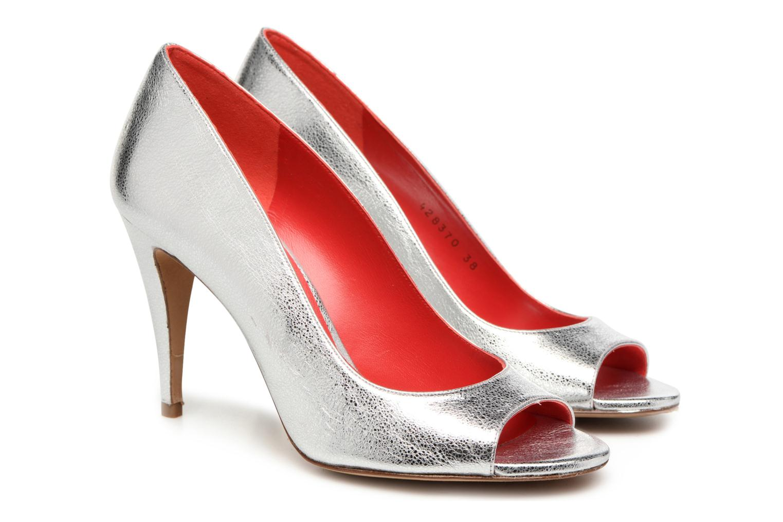 Zapatos de tacón Pura Lopez Lorina Plateado vista 3/4