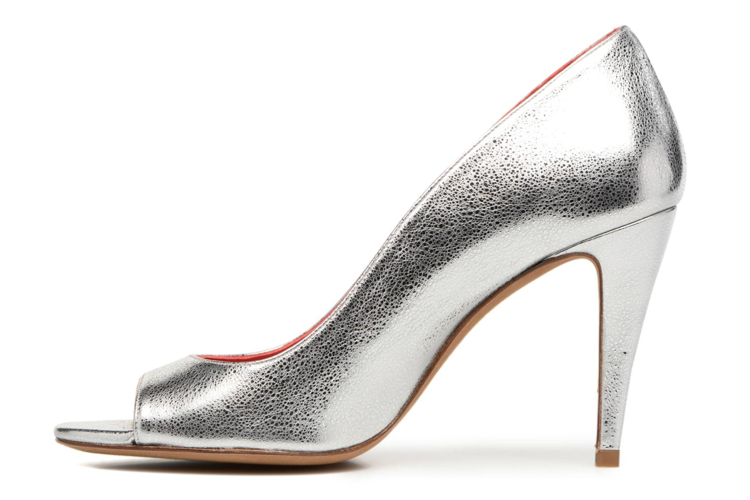 High heels Pura Lopez Lorina Silver front view