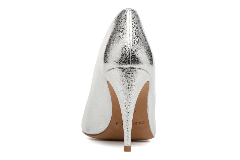 Zapatos de tacón Pura Lopez Lorina Plateado vista lateral derecha