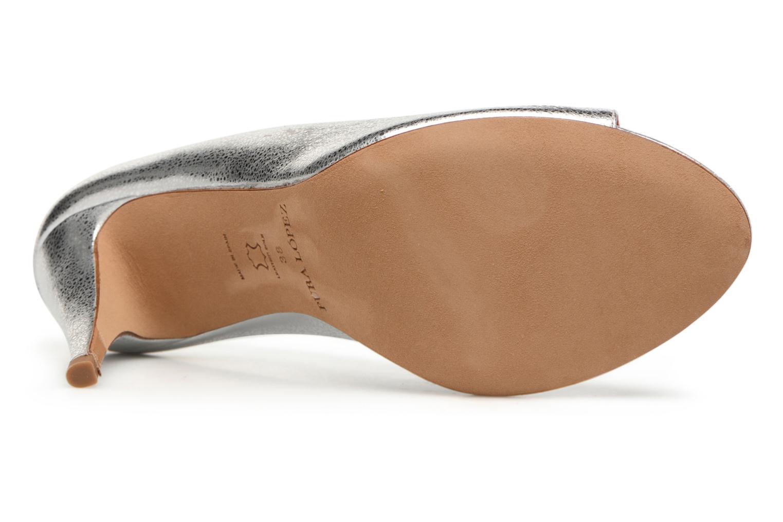 Zapatos de tacón Pura Lopez Lorina Plateado vista de arriba