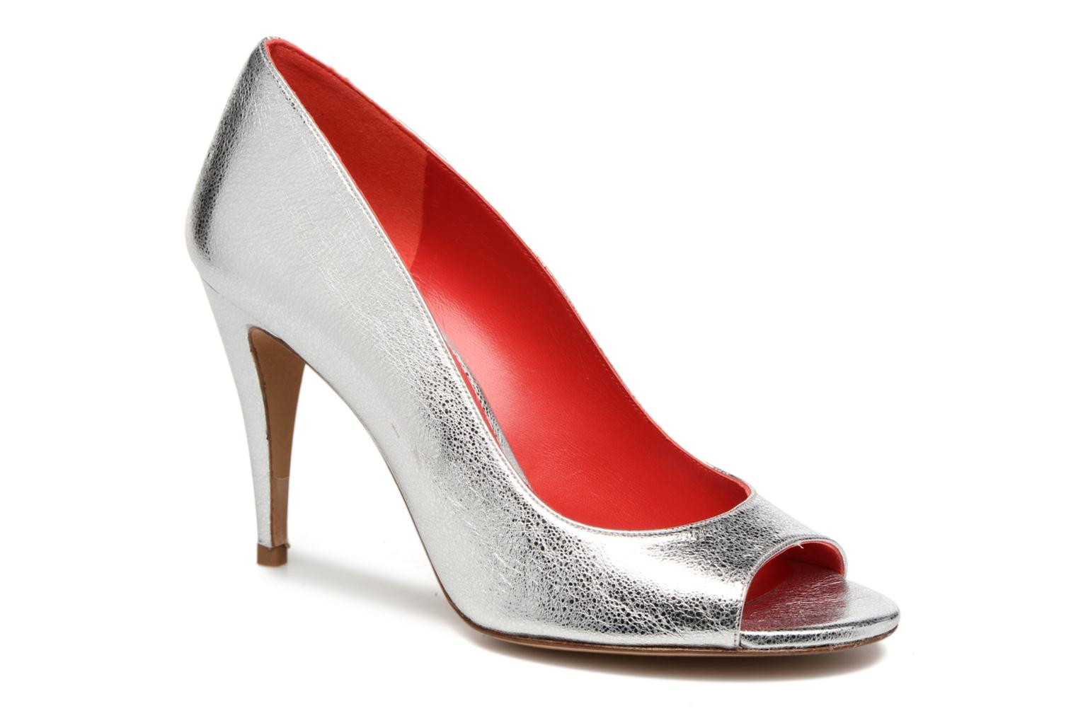 High heels Pura Lopez Lorina Silver detailed view/ Pair view