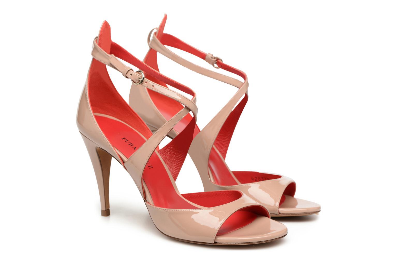 Sandals Pura Lopez Irina Beige 3/4 view